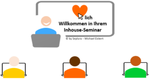 Die Grafik zeigt eine Inhouse-Schulung mit drei Teilnehmern