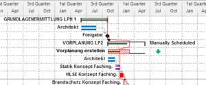 Ausschnitt Bauprojektmanagement mit MS Project - Schulung in Düsseldorf